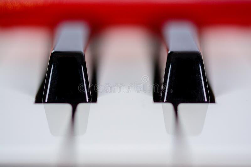 Some piano keys in macro stock image