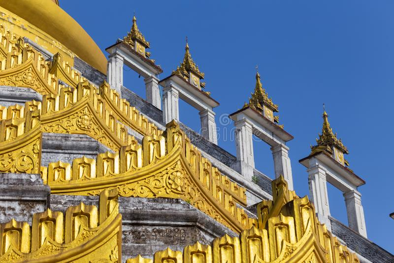 Mahazedi pagoda at Bago, Myanmar. The beautiful Mahazedi pagoda at Bago, in Myanmar stock image