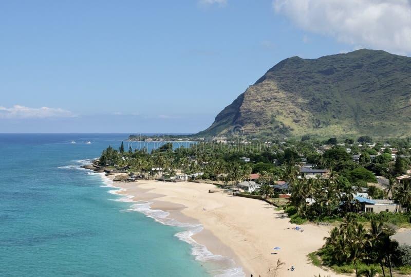 Beautiful Makaha Beach stock image