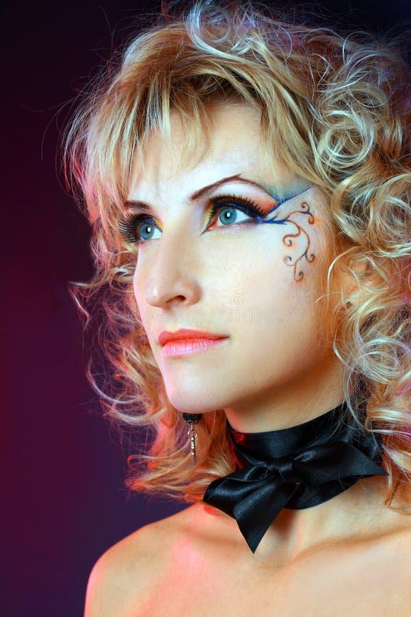 Download Beautiful Makeup Face Art Close Up Stock Image - Image: 27442073