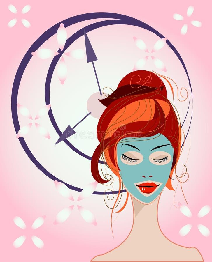 Beautiful makeup girl royalty free illustration