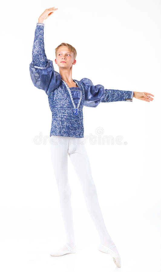 Beautiful male ballet dancer stock photos
