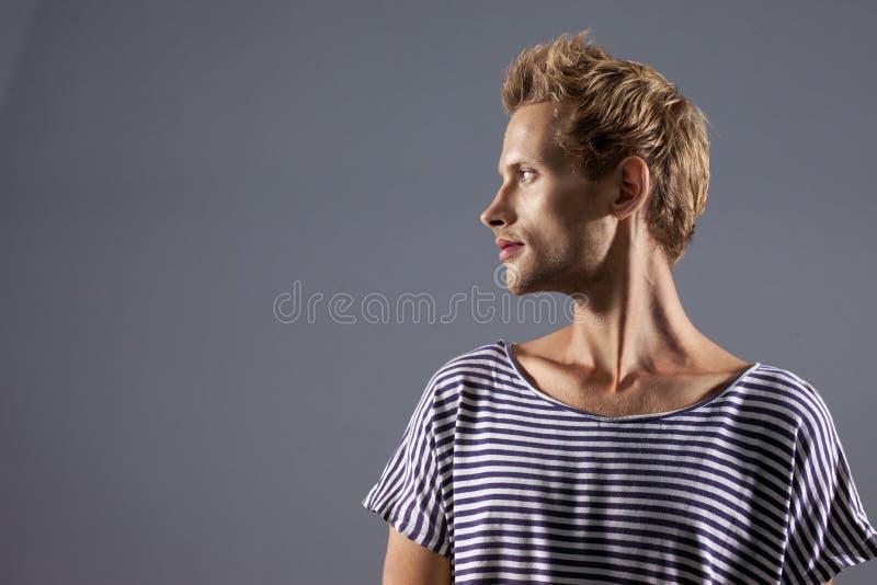 Beautiful Male Profile royalty free stock photos