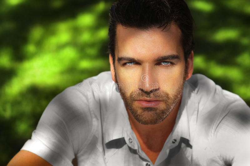 Beautiful man portrait royalty free stock photography