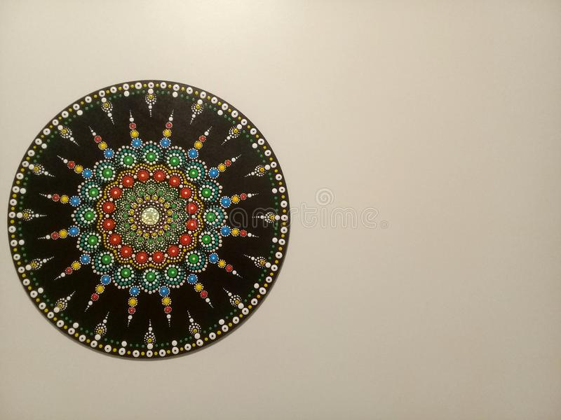 Beautiful mandala on the wall royalty free stock image