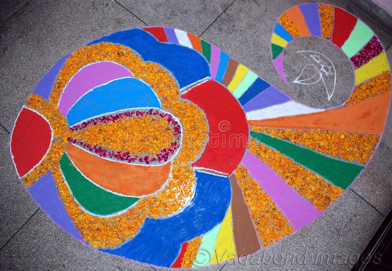 A beautiful many colour rangoli like so good royalty free stock image