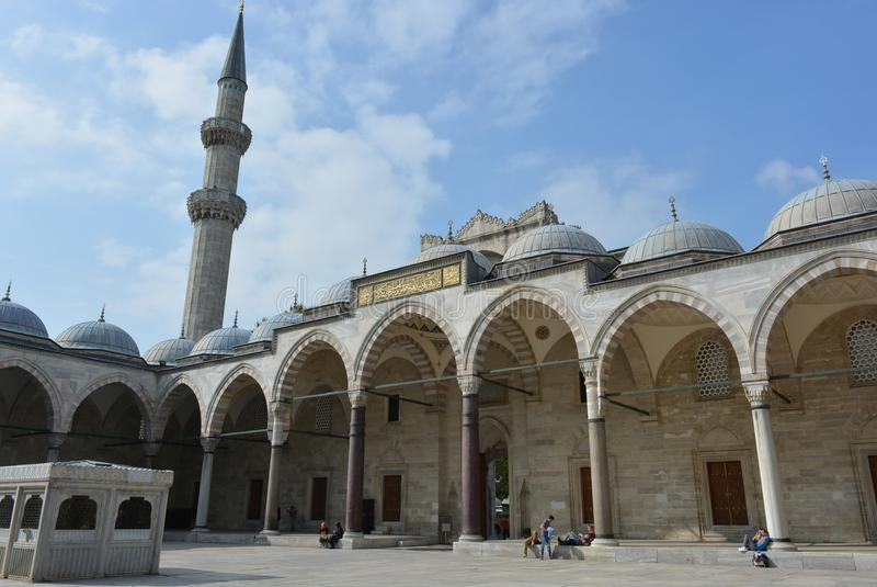 Mosque - cityscape Istanbul very old building stock images