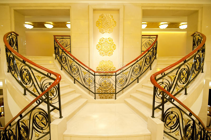 Beautiful marble stairs royalty free stock photo