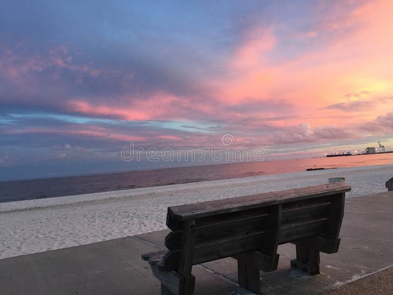 Beautiful Marina in Gulfport Mississippi royalty free stock photos