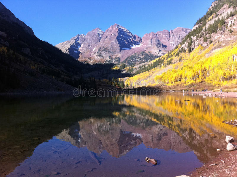 Beautiful Maroon Bells royalty free stock photos