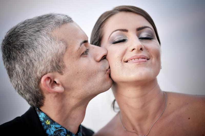 Download Beautiful married couple stock photo. Image of affectionate - 20680618
