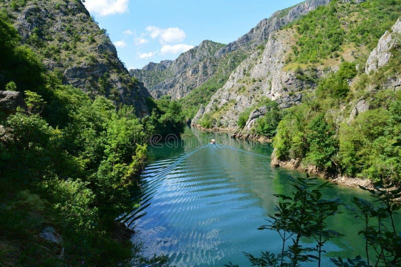 Matka Canyon in Macedonia. The beautiful Matka Canyon near Skopje in Macedonia beautiful nature and landscape royalty free stock photos