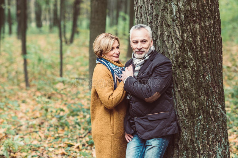 Download Beautiful Mature Couple In Autumn Park Stock Image - Image of mature, nature: 95070729
