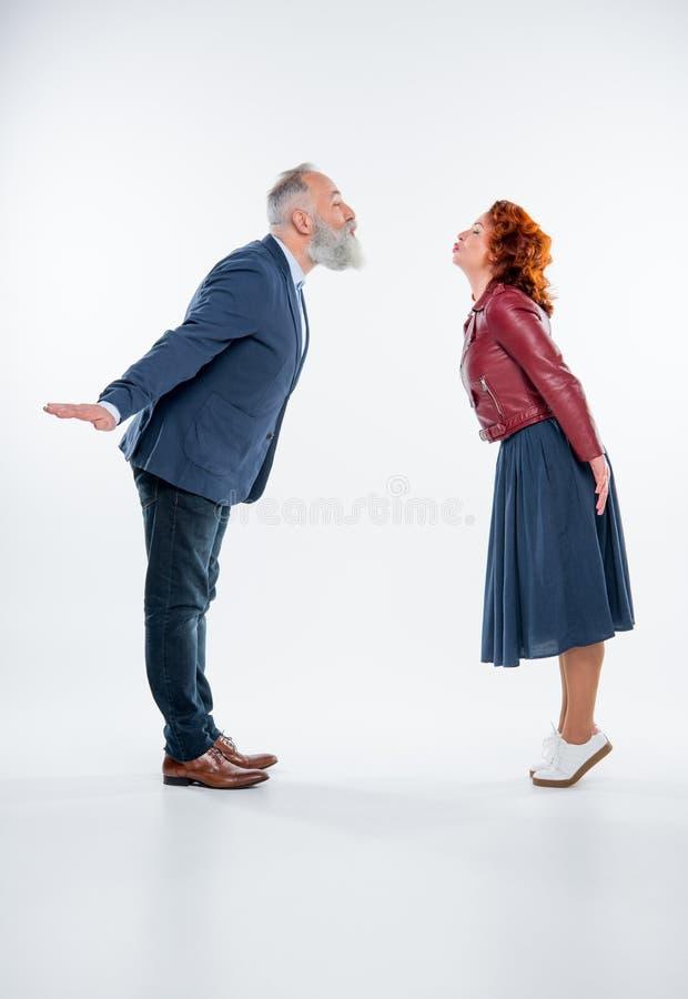 Beautiful mature couple stock images