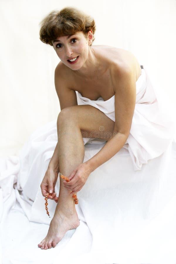 Beautiful mature woman royalty free stock images