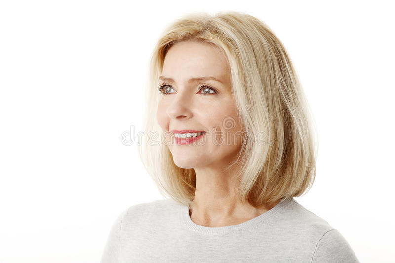beautiful mature woman στοκ φωτογραφίες