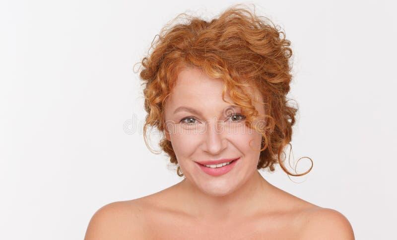 Beautiful mature woman royalty free stock photo