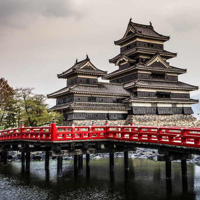 Beautiful medieval castle Matsumoto in the eastern Honshu, Japan.  royalty free stock photography