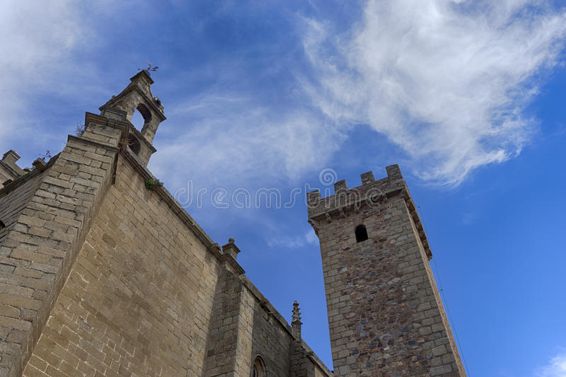 Beautiful medieval city of Caceres in Extremadura. Loitering through the ancient streets of the city of Cceres royalty free stock image