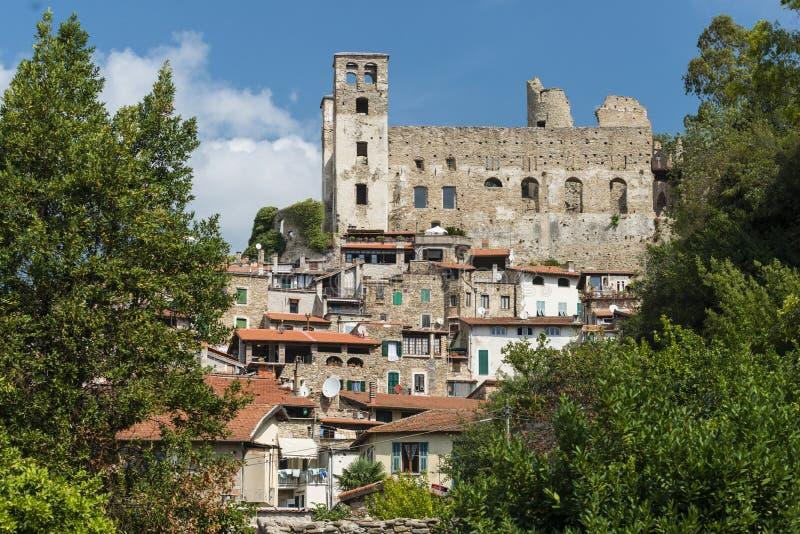 Beautiful medieval villages of Italy - Dolceaqua. Liguria - i borghi più belli d`italia stock photos