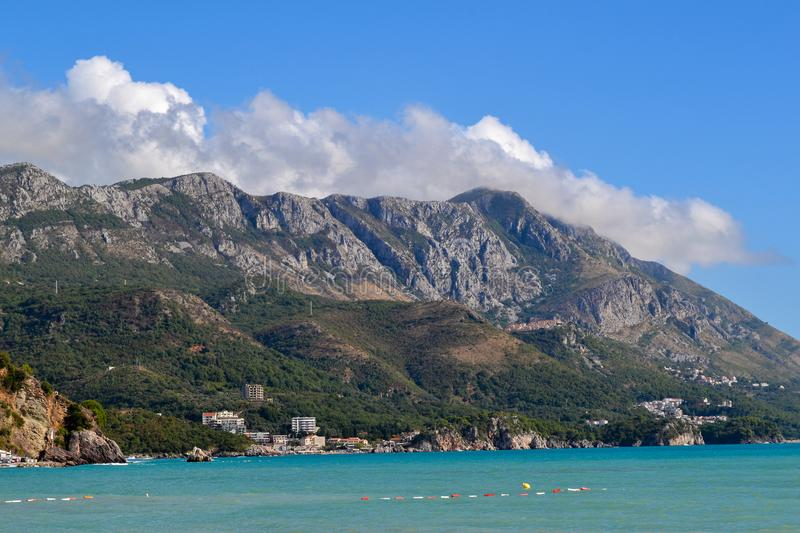 Beautiful mediterranean landscape. Budva. Montenegro.  stock photos