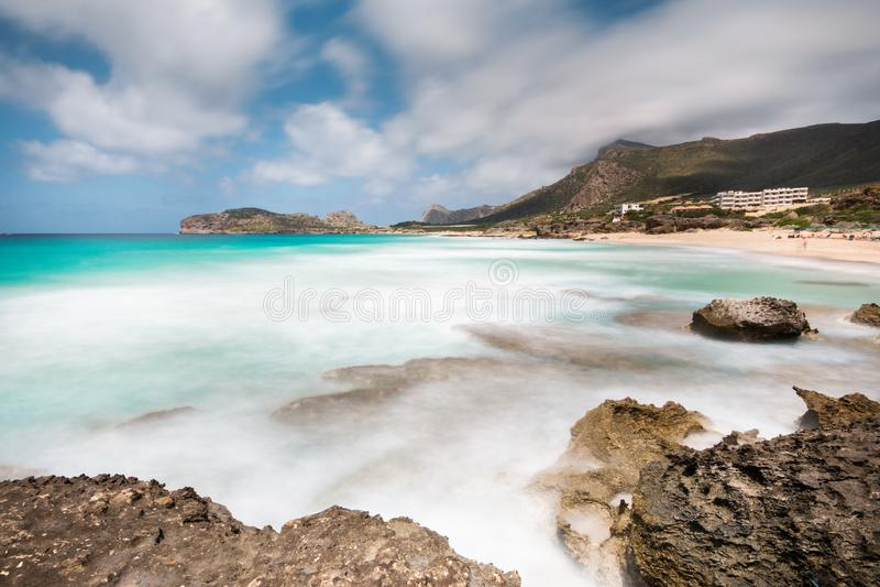 Beautiful Mediterranean Sea in the Crete, Greece stock photography