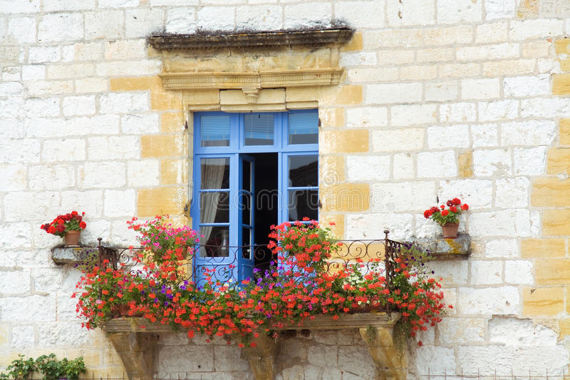 Beautiful Mediterranean window stock photography