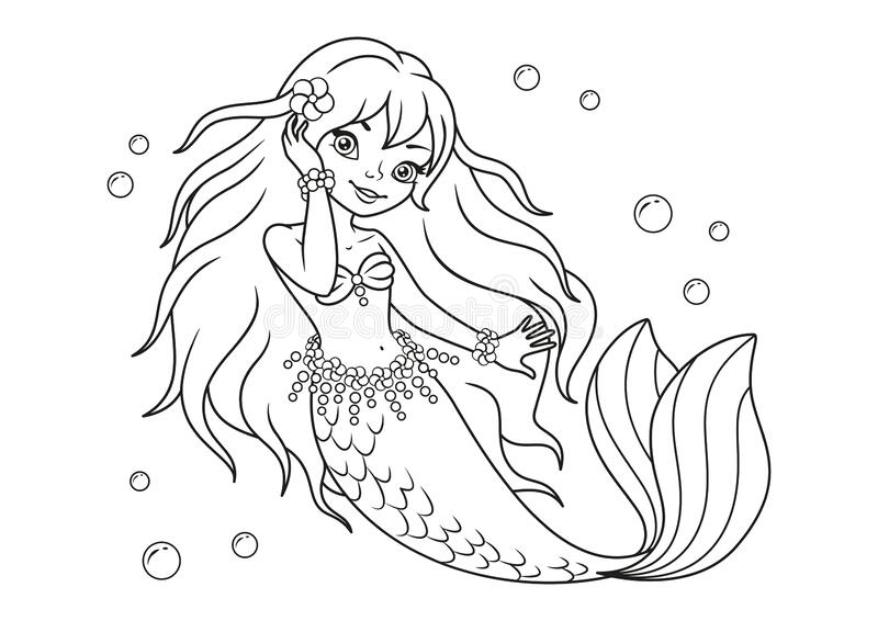 Mermaid Coloring Page Stock Illustrations – 967 Mermaid Coloring Page Stock  Illustrations, Vectors & Clipart - Dreamstime