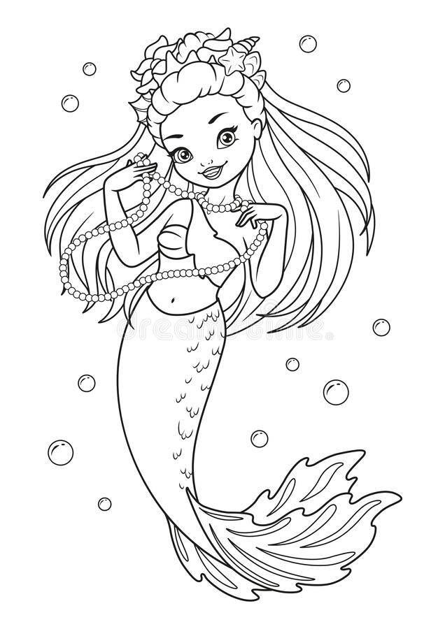 - Mermaid Coloring Page Stock Illustrations – 917 Mermaid Coloring Page Stock  Illustrations, Vectors & Clipart - Dreamstime