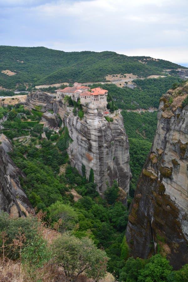 Beautiful Meteora Monasteries in Greece royalty free stock photography