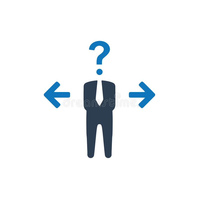 Confusion in Decision Making Icon stock illustration