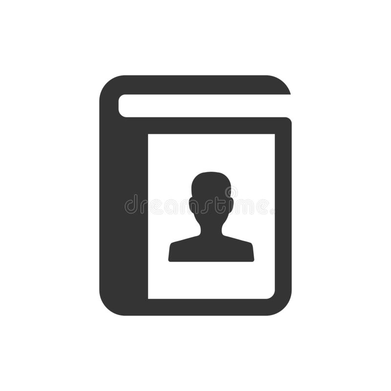 Address book icon. Beautiful, meticulously designed Address book icon vector illustration