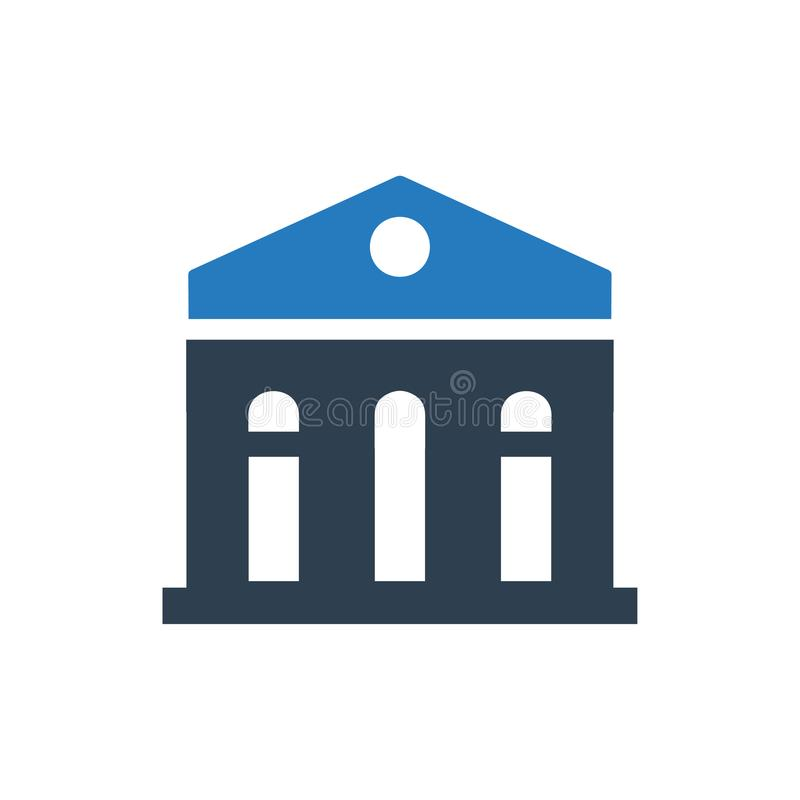 Bank Building Icon. Beautiful, Meticulously Designed Bank Building Icon royalty free illustration