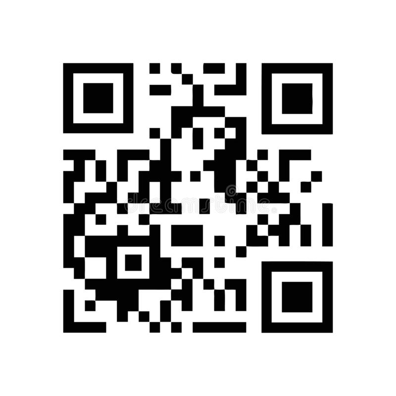 Bar code Scanner Icon / Or-code royalty free illustration