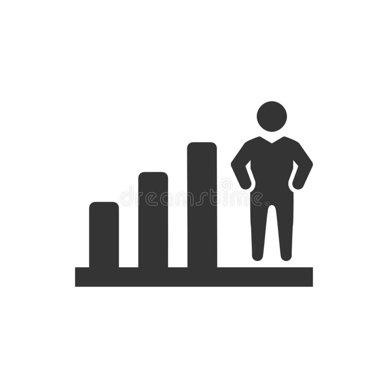 Business bar chart report. Beautiful, meticulously designed Business bar chart report stock illustration