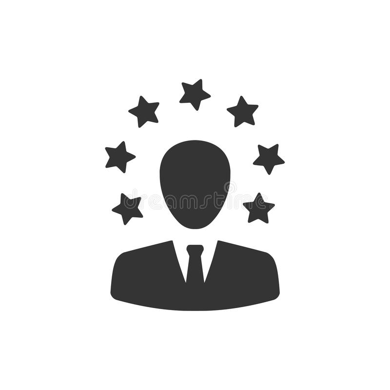 Businessman Testimonial Icon. Beautiful, Meticulously Designed Businessman Testimonial Icon royalty free illustration