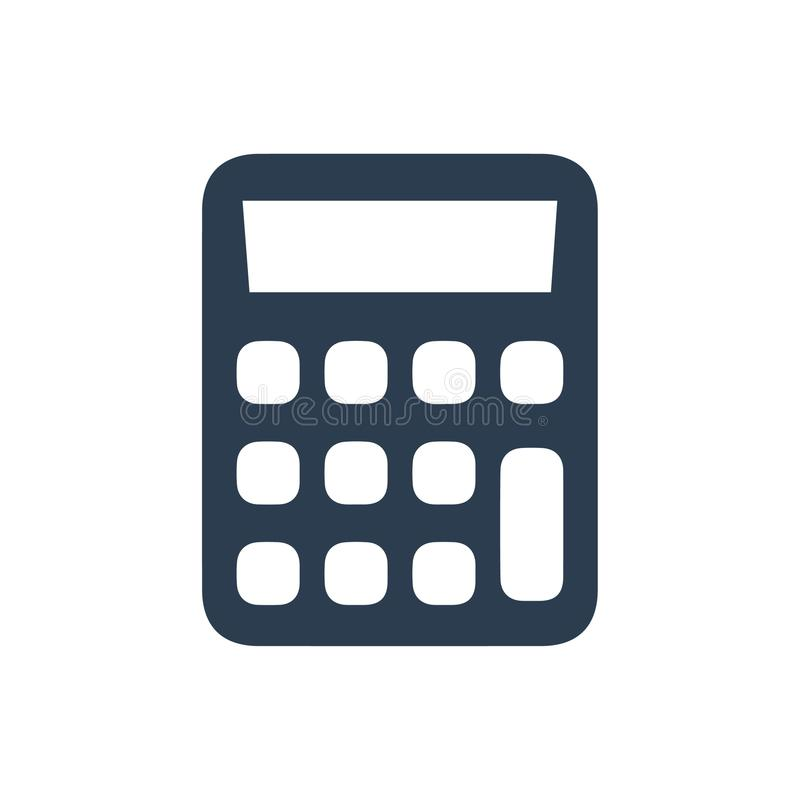 Calculator icon. Beautiful, meticulously designed Calculator icon. Perfect for use in designing and developing websites, printed materials and presentations stock illustration