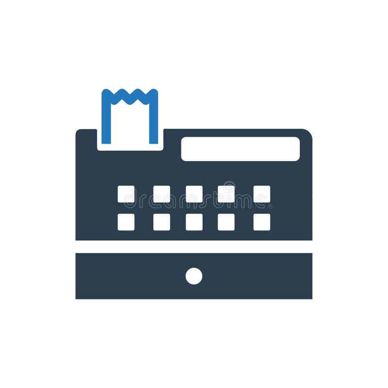 Checkout Machine Icon. Beautiful, Meticulously Designed Checkout Machine Icon vector illustration