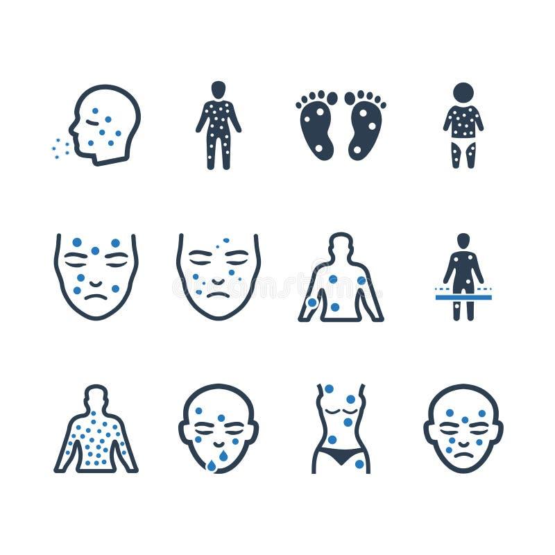 Dermatology Icons - Blue Version stock illustration