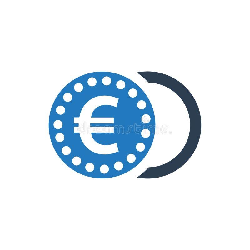 Euro Coin Icon vector illustration