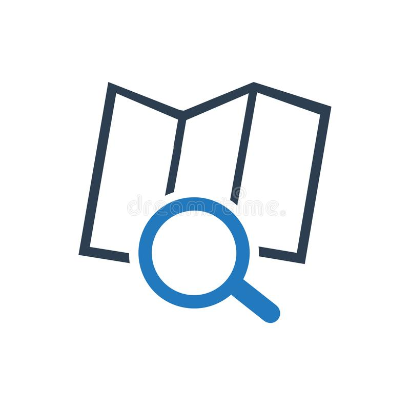 Find Address Icon. Beautiful, Meticulously Designed Find Address Icon royalty free illustration