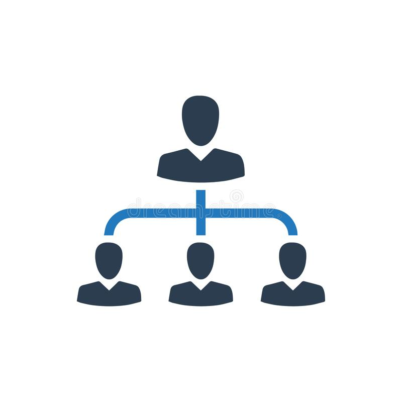 Hierarchy, Employee Management Icon. Beautiful, Meticulously Designed Hierarchy, Employee Management Icon stock illustration