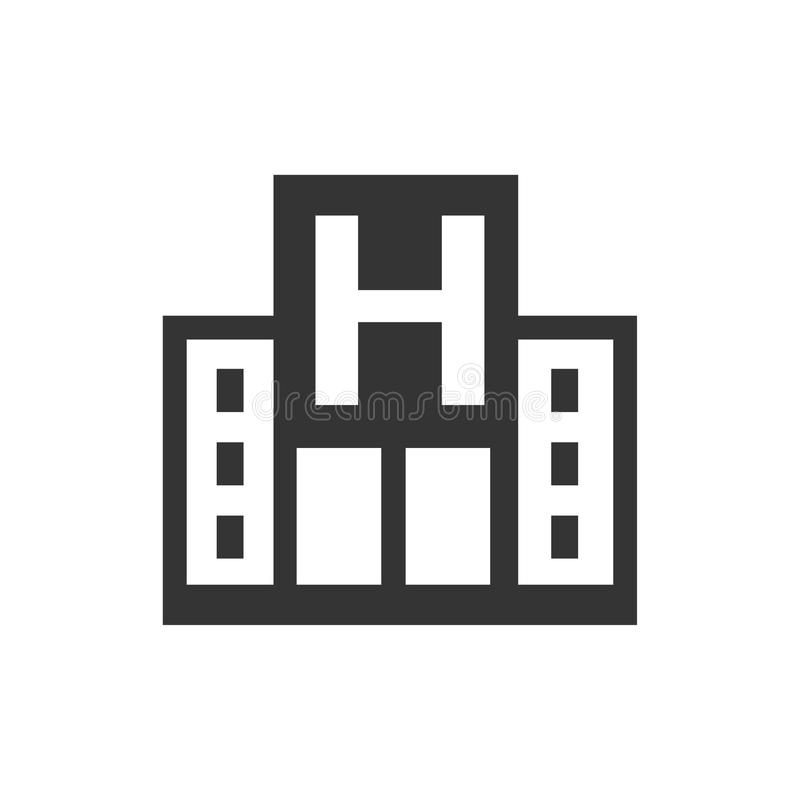 Hospital Icon. Beautiful, meticulously designed Hospital Icon. Perfect for use in designing and developing websites, printed materials and presentations stock illustration