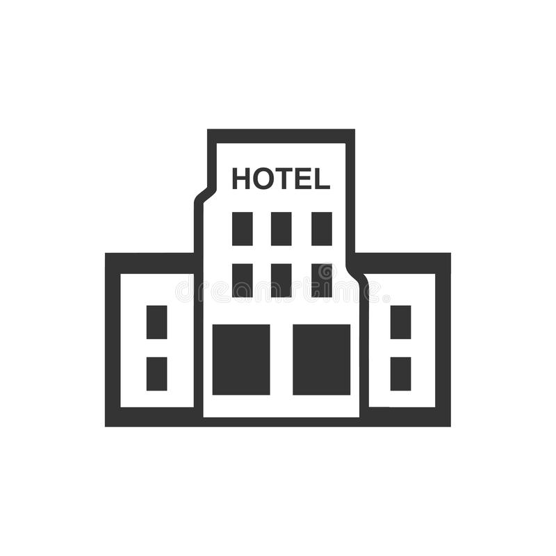 Hotel Building Icon. Beautiful, Meticulously Designed Hotel Building Icon stock illustration