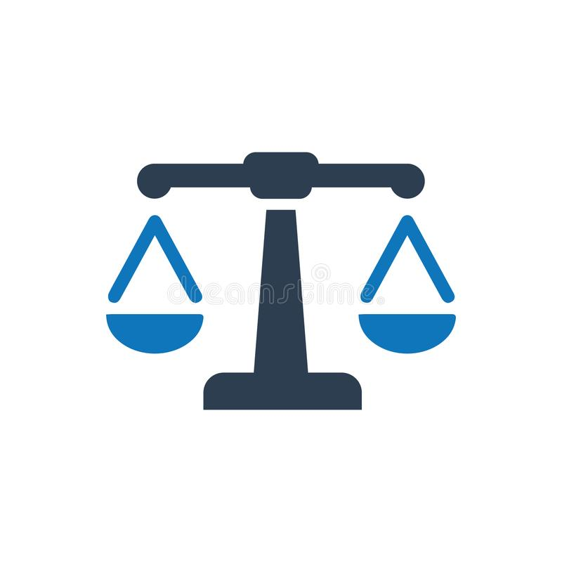 Law Icon. Beautiful Meticulously Designed Law Icon stock illustration