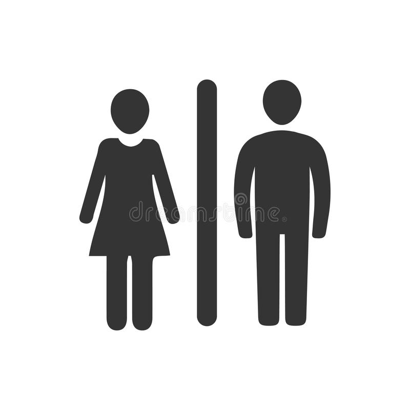 Man and Woman Icon. Beautiful, Meticulously Designed Man and Woman Icon stock illustration