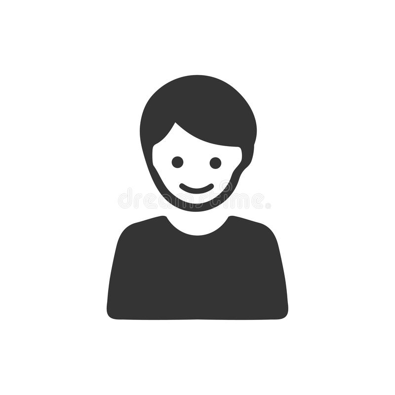 Person, Boy Icon. Beautiful, Meticulously Designed Person, Boy Icon stock illustration