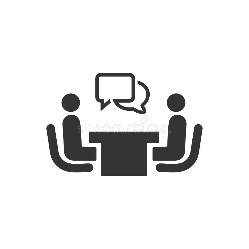 Recruitment, Interview Icon stock illustration
