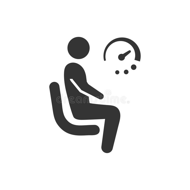 Waiting Icon royalty free illustration