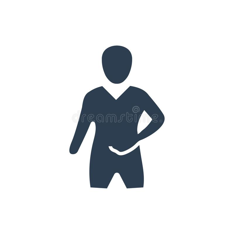 Stomach Pain Icon. Beautiful Meticulously Designed Stomach Pain Icon royalty free illustration